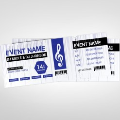 Music Party Event Ticket Design Template