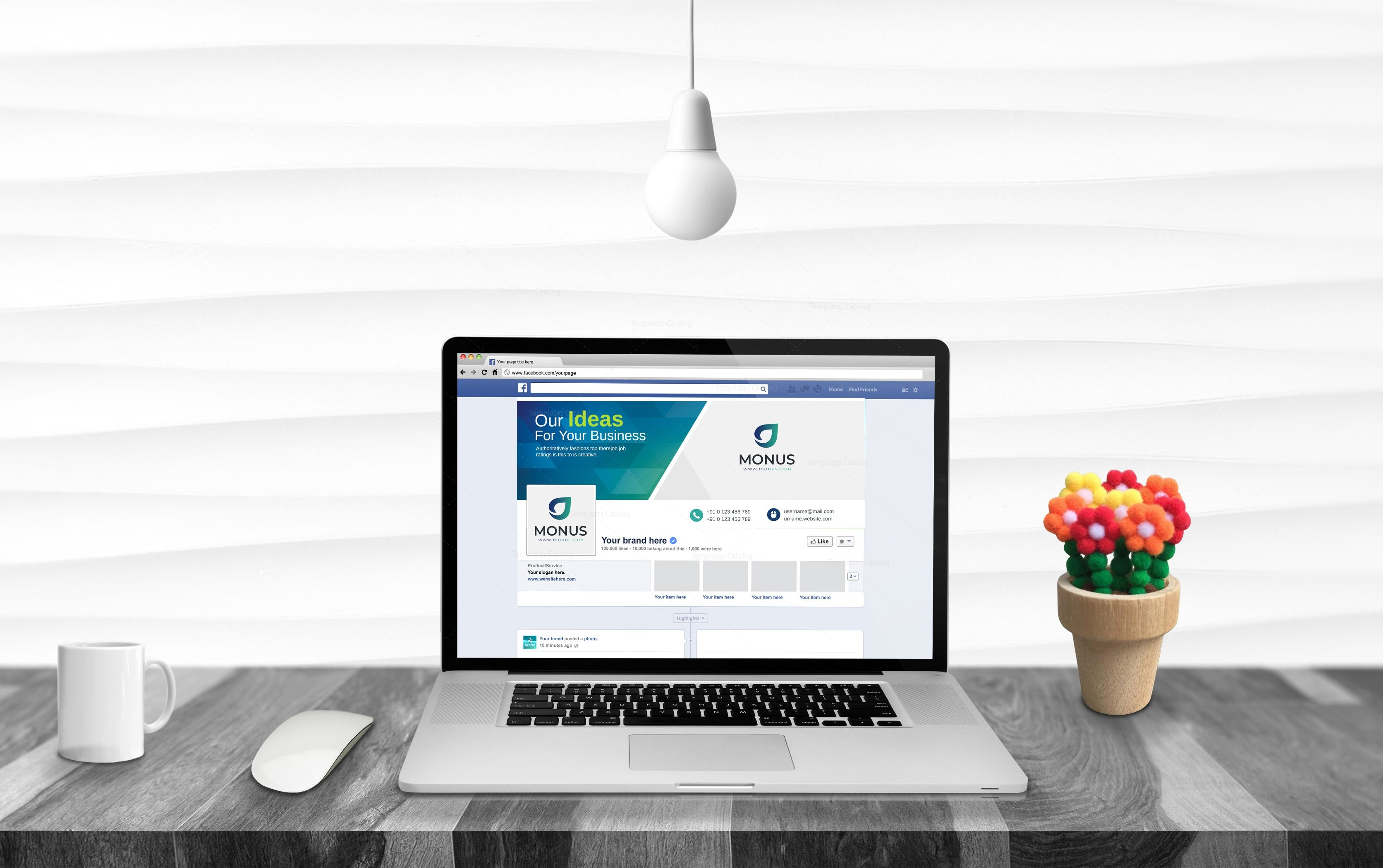 Plain Facebook Timeline Cover Template
