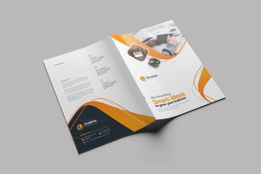 Smart Stylish Presentation Folder Design Template