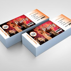 Special Party Event Ticket Design Template