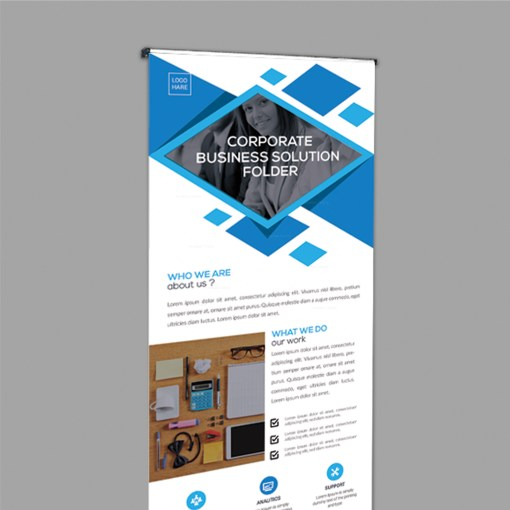 Stylish Roll-Up Banner Design Template