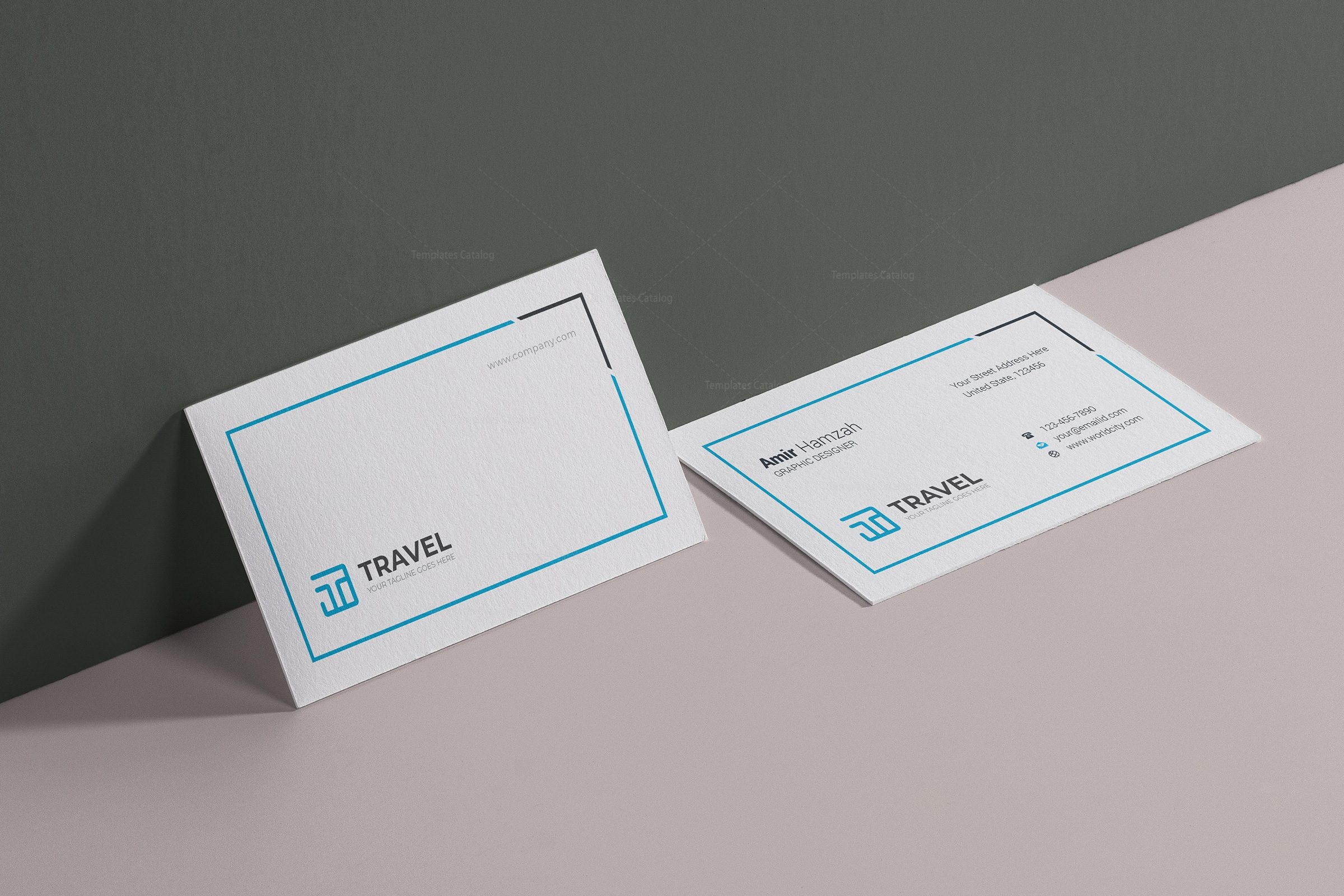 Travel Agency Business Card Design Template 001782 Template Catalog