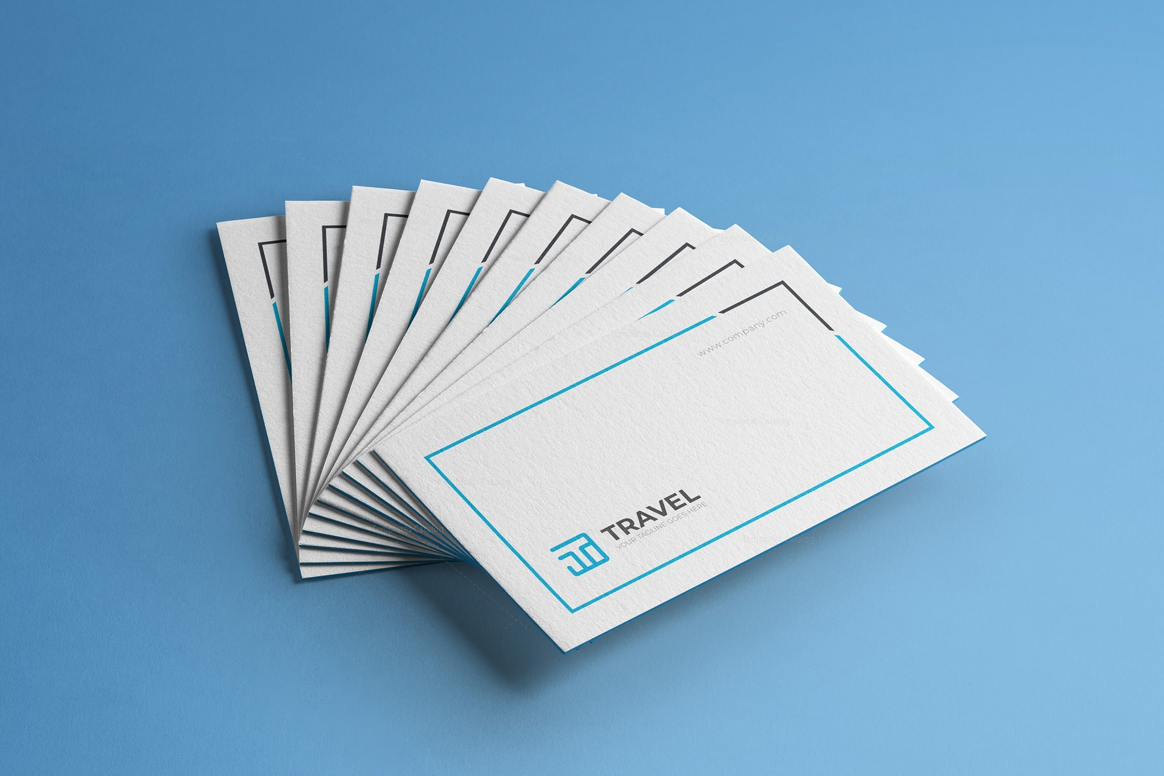 Travel Agency Business Card Design Template 001782