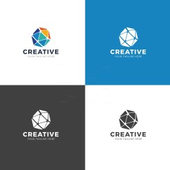 Triangle Professional Logo Design Template