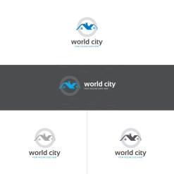 World City Real Estate Logo Design Template