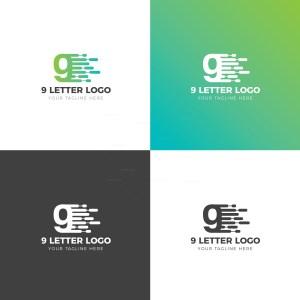 9 Number Creative Logo Design Template