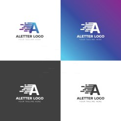 A Letter Creative Logo Design Template