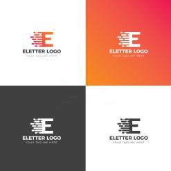 E Creative Logo Design Template