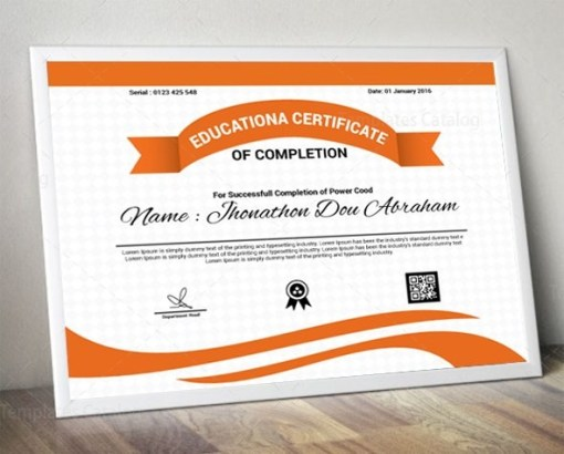 Educational Certificate Design Template