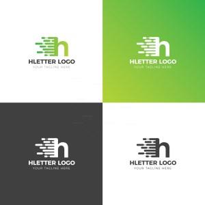 H Lower Case Creative Logo Design Template