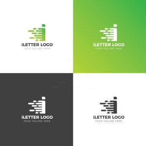 I Lower Case Creative Logo Design Template