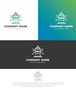Lighthouse Stylish Logo Design Template