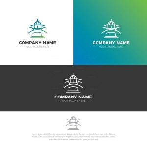 Lighthouse Stylish Logo Design Template