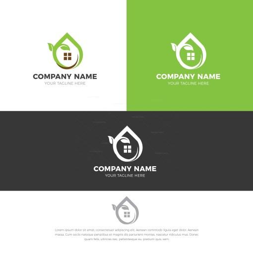 Natural House Stylish Logo Design Template