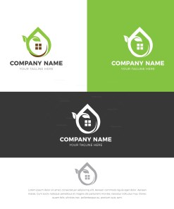 Natural House Stylish Logo Design Template