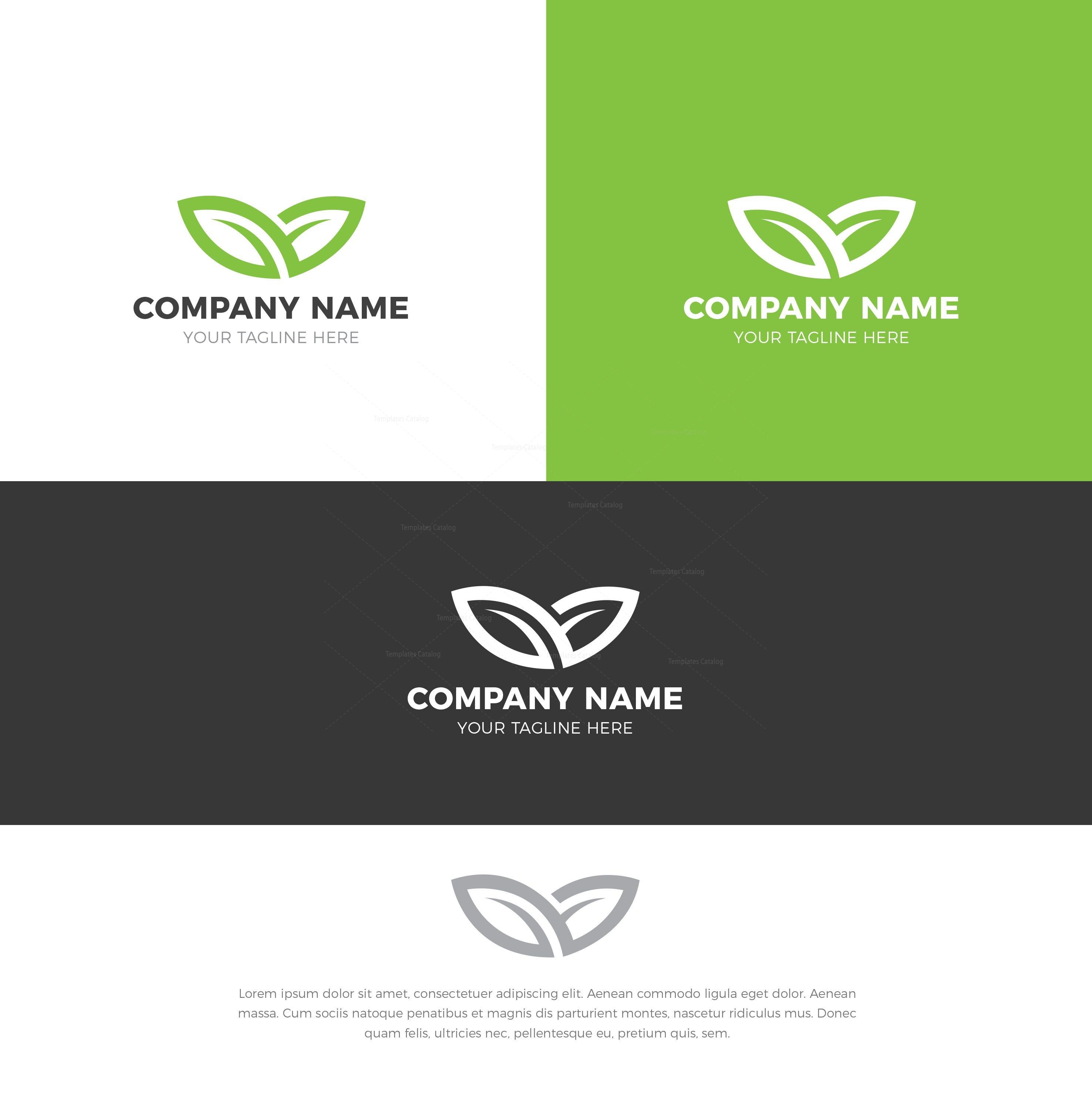 Nature Stylish Logo Design Template