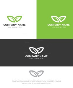 Nature Stylish Logo Design Template
