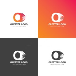 O Letter Creative Logo Design Template