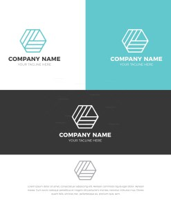 Pentagon Stylish Logo Design Template