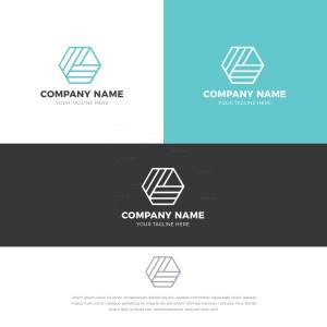 Pentagon Stylish Logo Design Template