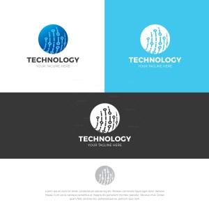 Technology Stylish Logo Design Template
