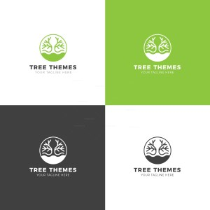 Tree Premium Creative Logo Design Template