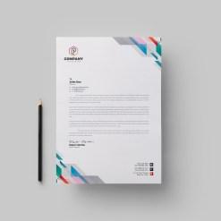 Vibrant Corporate Letterhead Design Template