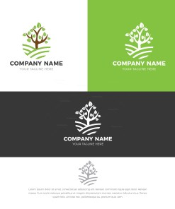 Wood Stylish Logo Design Template