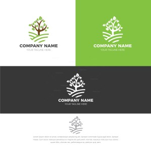 Wood Stylish Logo Design Template