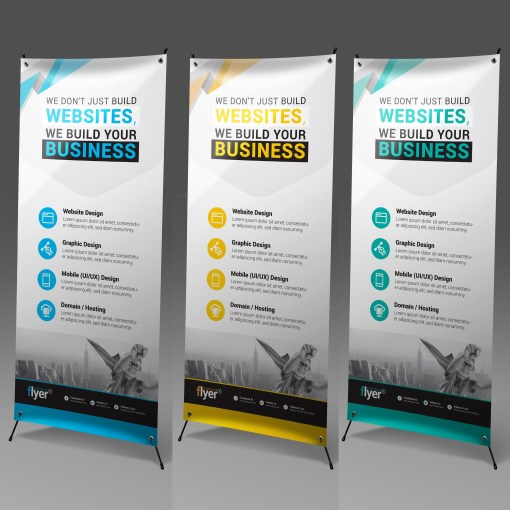 Construction Roll-Up Banner Design Template