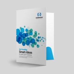 Dots Presentation Folder Design Template