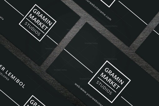 Minimal Manager Business Card Design