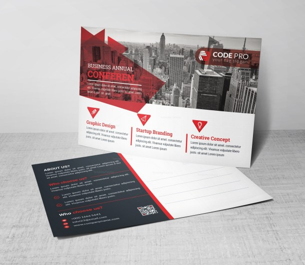 PSD Corporate Postcard Design Template