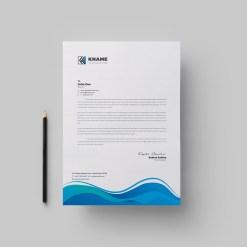 Wave Corporate Letterhead Design Template