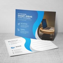 Wave Corporate Postcard Design Template