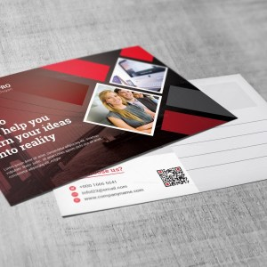 Advertising Corporate Postcard Template