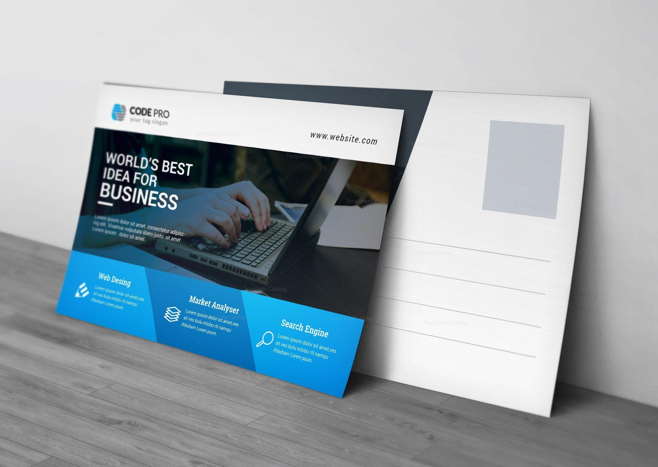 Computer Postcard Design Template