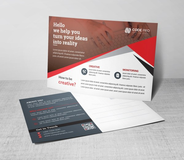Defense Corporate Postcard Template
