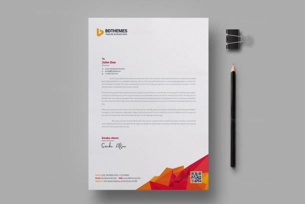 Education Letterhead Design Template