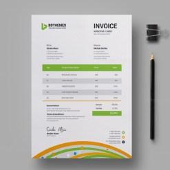 Florist Invoice Design Template