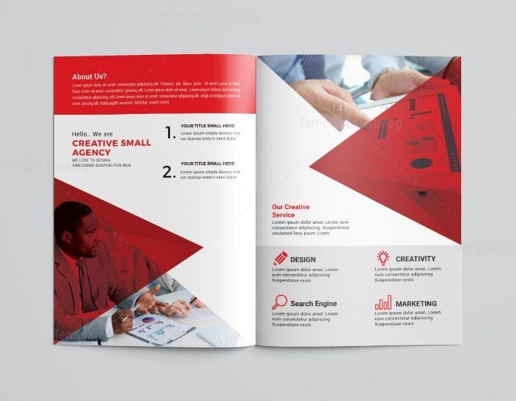 HR Business Bi-Fold Brochure Template