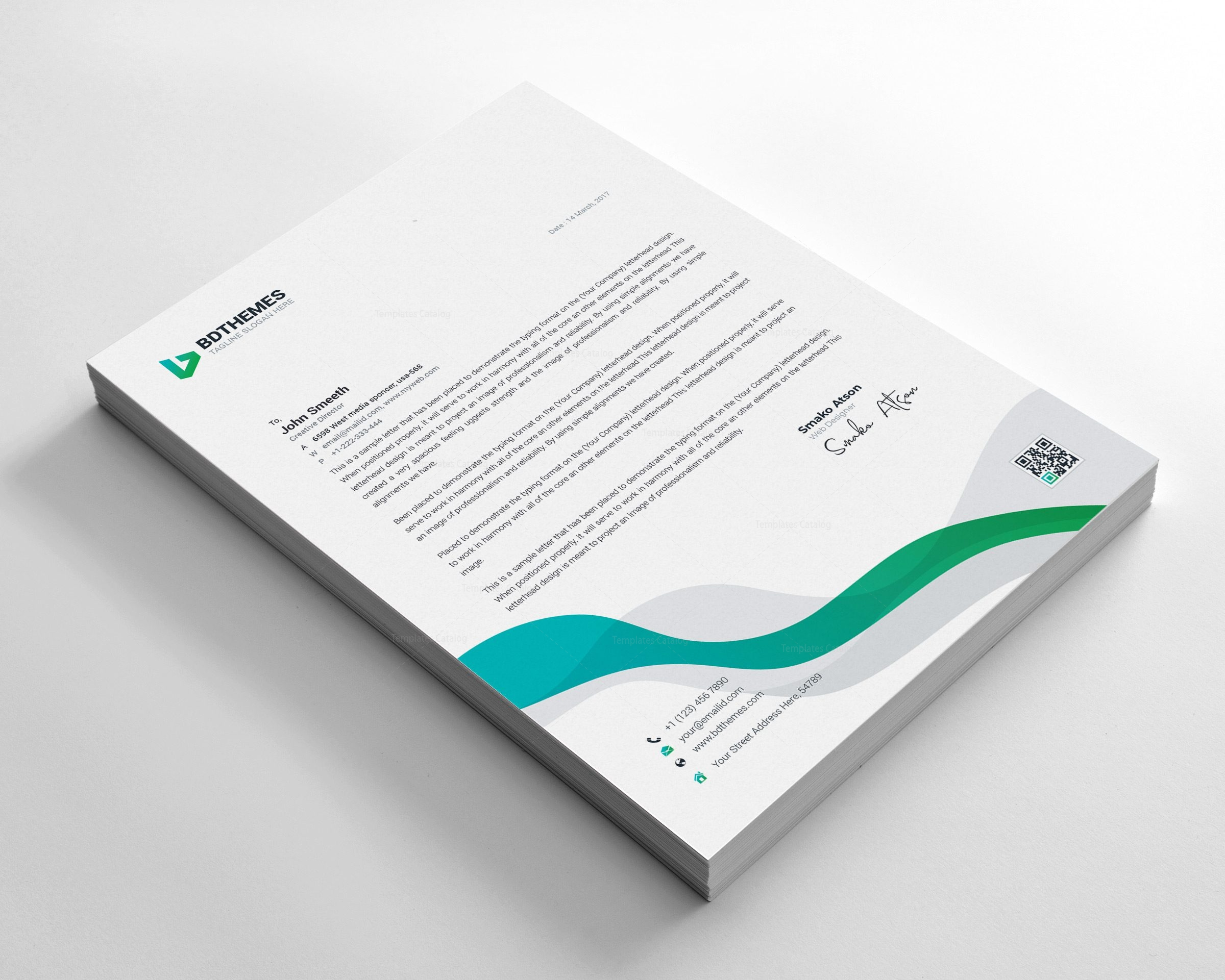 Insurance Letterhead Design Template