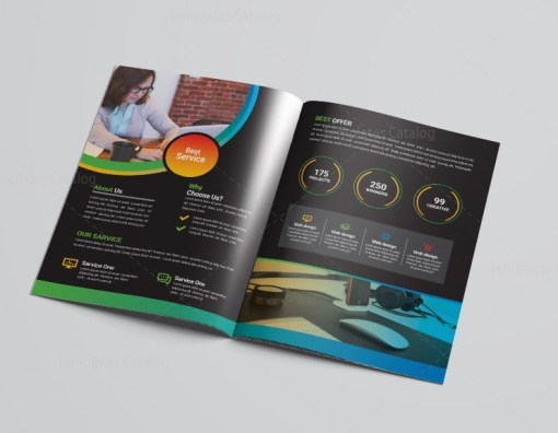 Marketing Bi-Fold Brochure Template