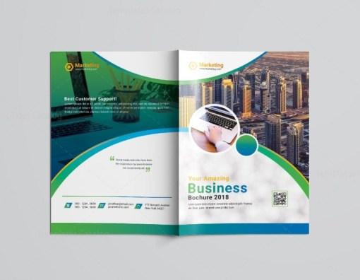 Marketing Bi-Fold Brochure Template