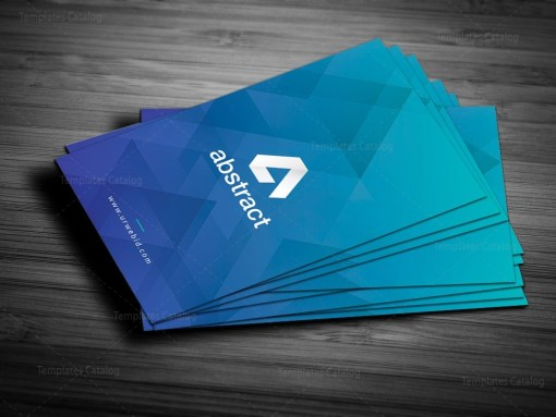 Blue Vertical Business Card