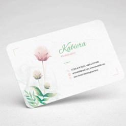 Flower Minimal Business Card Design