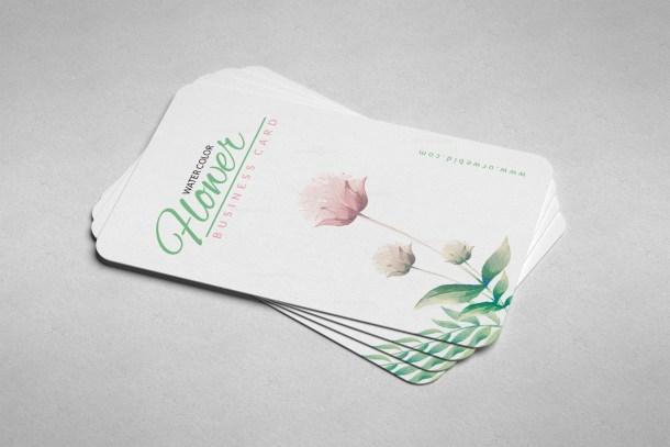 Flower Vertical Business Card Design