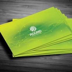 Green Stylish Business Card