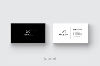 Minimal Black & White Business Card Design