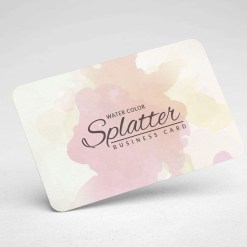 Splatter Business Card Design